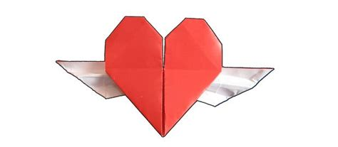 tutorial origami wing love origami for valentine s day