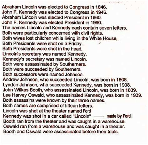 lincoln and kennedy assassination facts kennedy lincoln connection