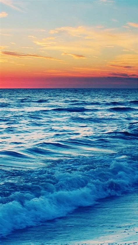 wallpaper iphone waves nature sunset sea wave landscape iphone 6 plus