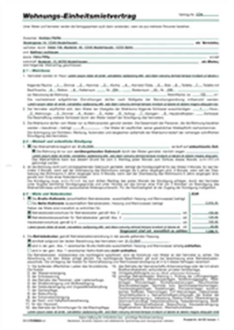 wohnungs einheitsmietvertrag bestform24
