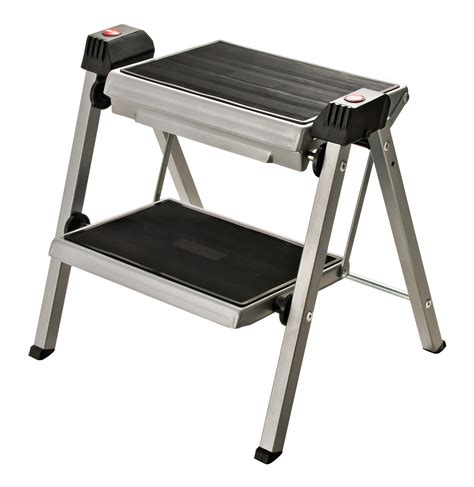 Chair Step Stool Folding by Hafele 505 04 210 Folding Step Stool Silver
