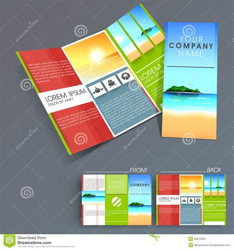 professional brochure templates free professional business three fold flyer template stock