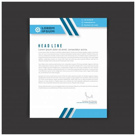 Business Letter Template Ai Editable Business Letter Template Vector Free