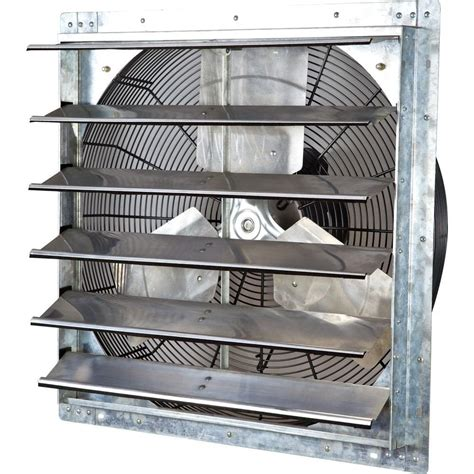 industrial exhaust fan with shutter iliving 4200 cfm power 24 in variable speed shutter