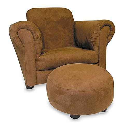 children s chair and ottoman brown faux suede stuffed children s chair and ottoman