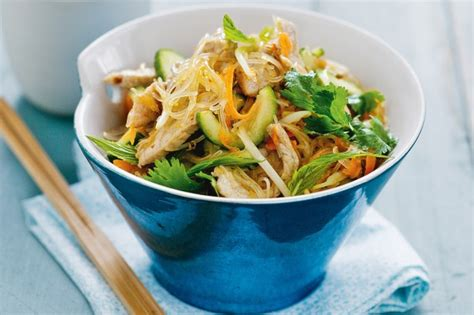 rice noodle salad pork rice noodle salad recipe taste com au