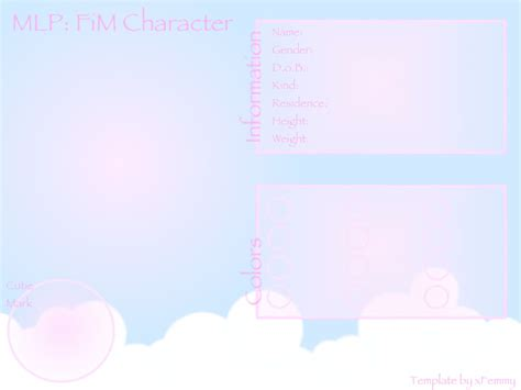 pony oc template mlp fim oc template by m00nlightmagic on deviantart