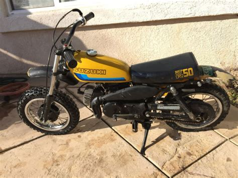 Suzuki 50 Dirt Bike 1970 S Suzuki Jr 50 Dirt Bike Motorcycle Suzuki Vintage