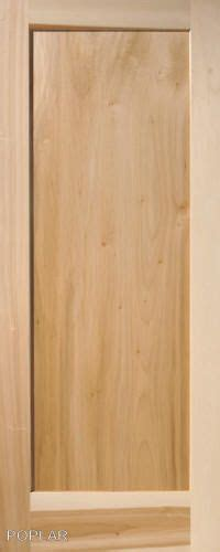 Flat Panel Interior Wood Doors Details About 3 Panel Flat Poplar Shaker Mission Stain Grade Solid Interior Wood Doors