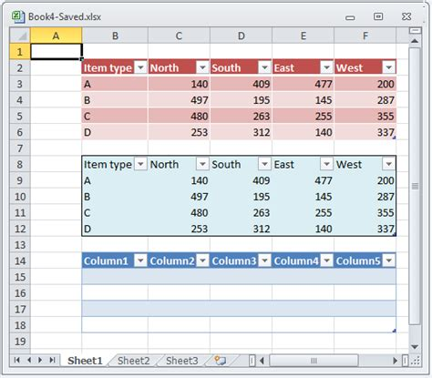 format excel as table preserving table formatting when loading excel files