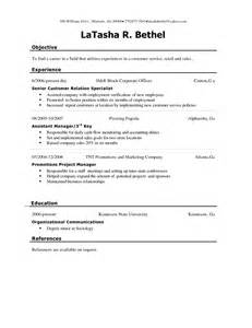 chronological resumes sle templates and exles