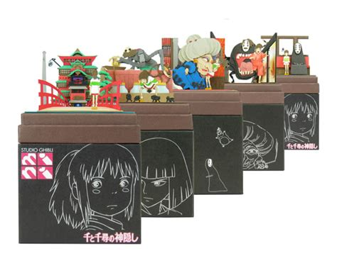 Spirited Away Papercraft - studio ghibli mini paper craft kit spirited away 14