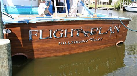 boat transom paint boats transom artwork painting everett nautical designs