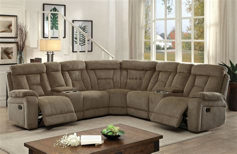 mocha sectional sofa maybell sectional sofa cm6773mc w recliners in mocha fabric