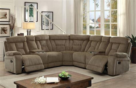Maybell Sectional Sofa Cm6773mc W Recliners In Mocha Fabric Mocha Sectional Sofa