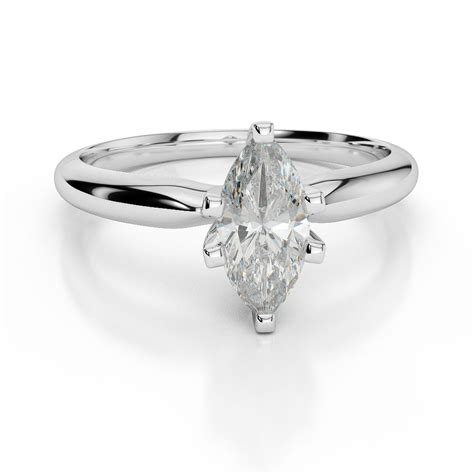marquise cut ring wedding 1 63 ct vs1 8 prong set