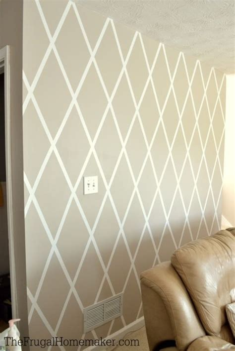 wall paint design ideas with tape how to paint a diamond accent wall with scotchblue tape