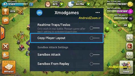 tutorial for copy player layout dead base search xmodgames کپی نقشه در کلش آف کلنز جستجوی مپ مرده