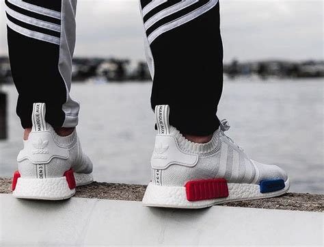 Adidas Nmd Tricolor White Us 8 adidas nmd r1 pk tricolor pack ftwr white