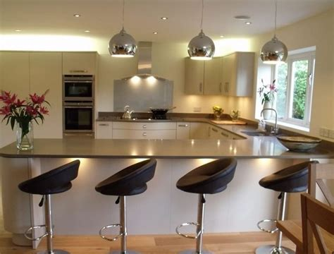 u shaped kitchen designs with breakfast bar interior