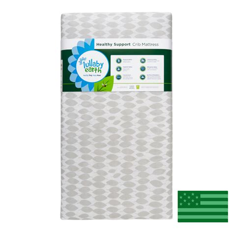 Mattress Support For Crib Lullaby Earth Leaf Pattern Lightweight Crib Mattress Waterproof American Eco Furniture
