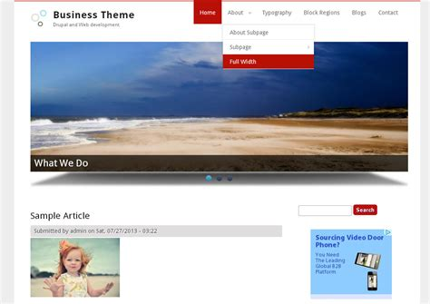 drupal themes for business website business theme free drupal theme freedownload web