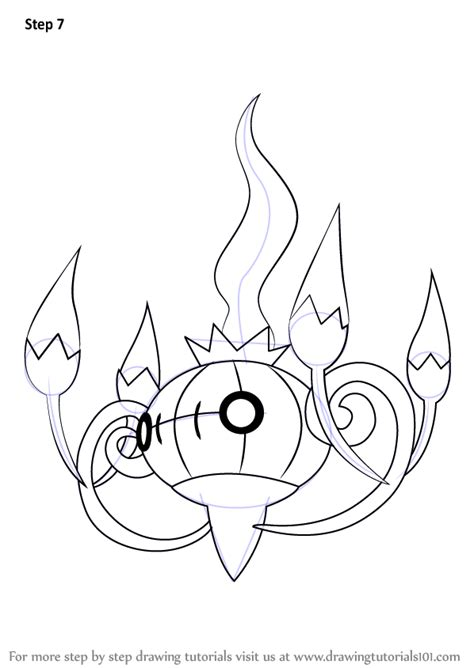 pokemon coloring pages chandelure learn how to draw chandelure from pokemon pokemon step