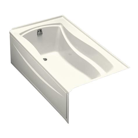 bathtub flange kohler mariposa 5 5 ft left hand drain with integral tile