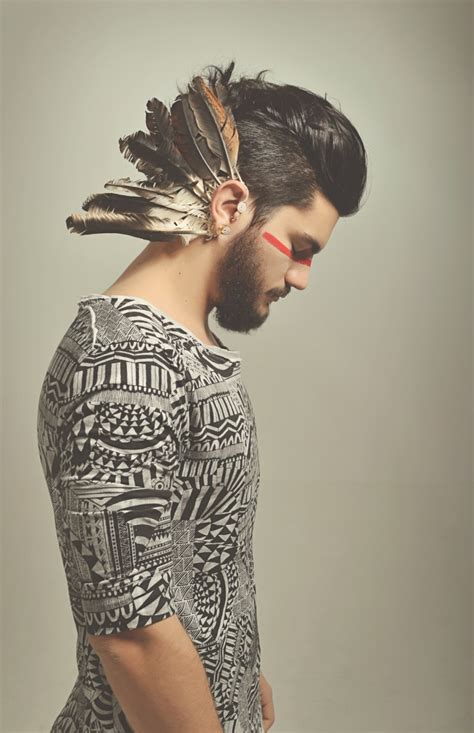 aztec men nobles hairstyles caiomotta indie aztec feathers hipster men s fashion on