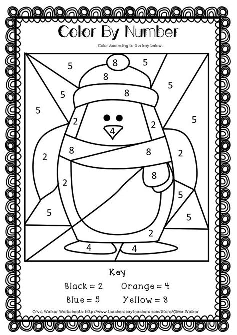 large print color by number coloring book winter beautiful and festive coloring activity book for and winter to relieve stress and relax books winter math numbers to 10 recognise numbers to ten