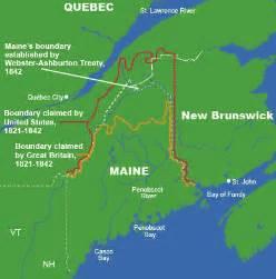 maine canada border map the aroostook war