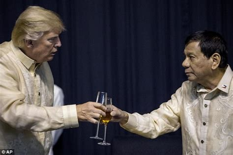 trump duterte donald trump meets philippines president rodrigo duterte daily mail online