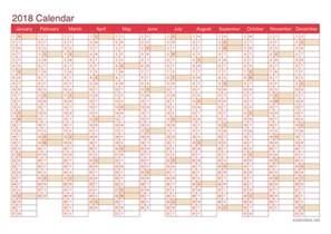 Kalender 2018 Net 2018 Printable Calendar Pdf Or Excel Icalendars Net
