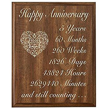 5th wedding anniversary cherry wall plaque gifts for 5th anniversary gifts