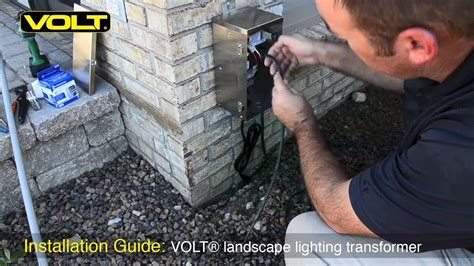 How To Install Landscape Lights Volt 174 Low Voltage Landscape Lighting Transformer Installation