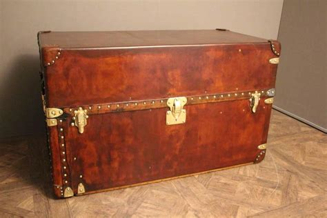 Extra Large Louis Vuitton All Leather Wardrobe Steamer Leather Steamer Trunk Coffee Table