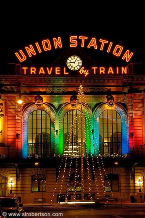 photo of union station christmas lights denver scott l