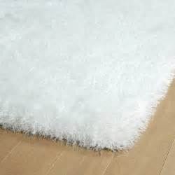 White Fuzzy Area Rug District17 White Posh Shag Rug Shag Rugs Solid Rugs