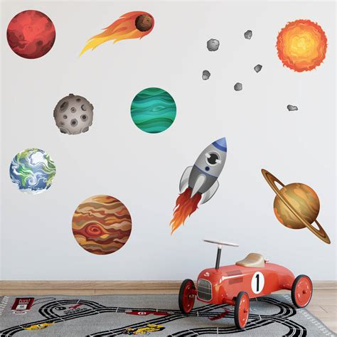 solar system wall stickers solar system wall stickers by mirrorin