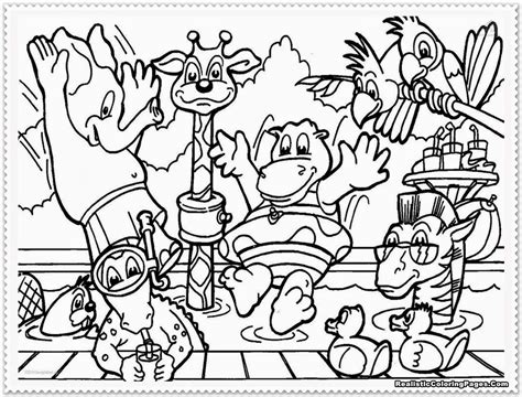 free coloring pages jungle theme safari animal coloring pages bestofcoloring com