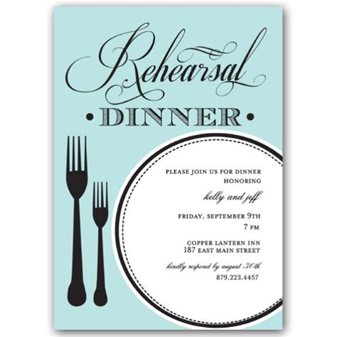 Perfect Plate Rehearsal Dinner Invitations   PaperStyle