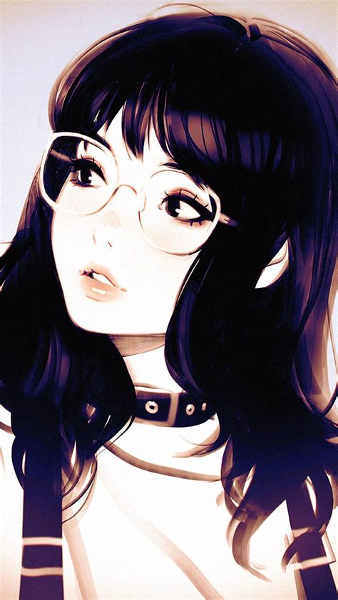 anime glasses pretty japanese glasses girl japanese cute pastel
