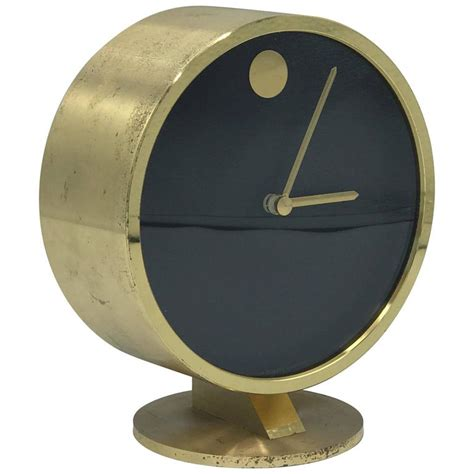 Desk Clocks Modern 1950s Modern Brass Desk Clock At 1stdibs