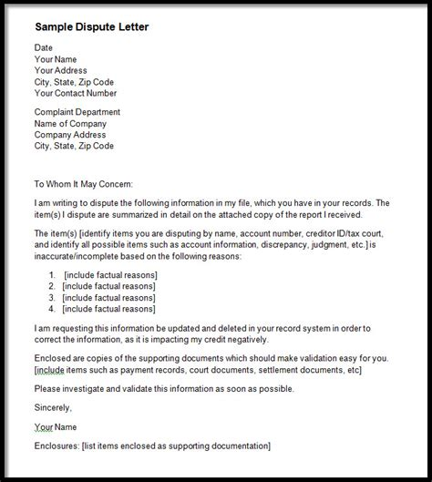 Equifax Dispute Letter Address Dispute Credit Report Sle Letter K K Club 2017