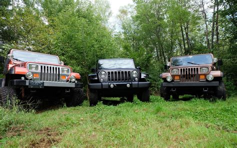 Jeep Jk Vs Tj It S A Jeep Thing Yj Vs Jk Vs Yj Review 2015 Jeep