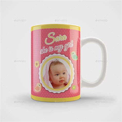 mug design for girlfriend girl born mug art design template by owpictures graphicriver