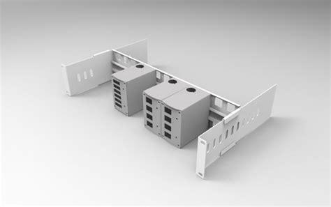 cassetti ottici supporto 19he barra din regolabile con mini cassetti