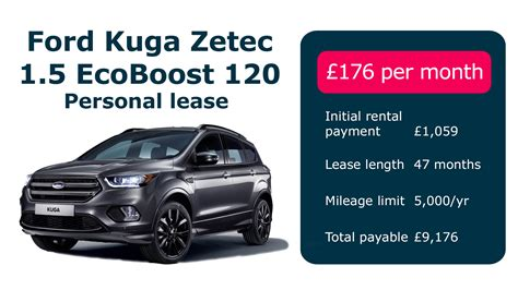 best contract hire deals personal ford kuga lease deals car leasing deals