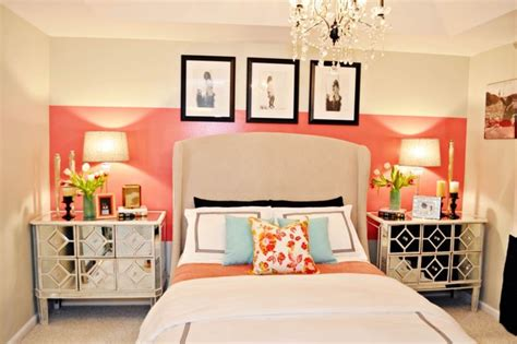 gold and coral bedroom vintage glam bedroom contemporary bedroom miami by