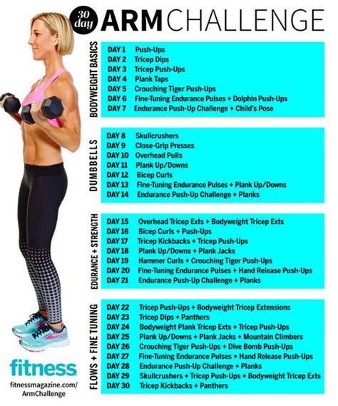 dumbbell challenge 30 day arm challenge fitness magazine